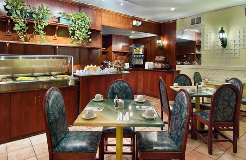 Breakfast room at The Days Inn Oceanside.