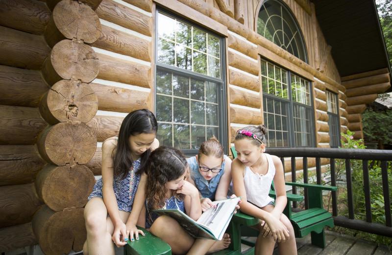 Family at Cedar Grove Lodge.