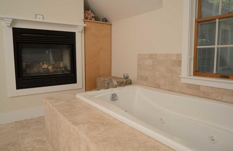 Rental bathroom at Acadia Cottage Rentals.