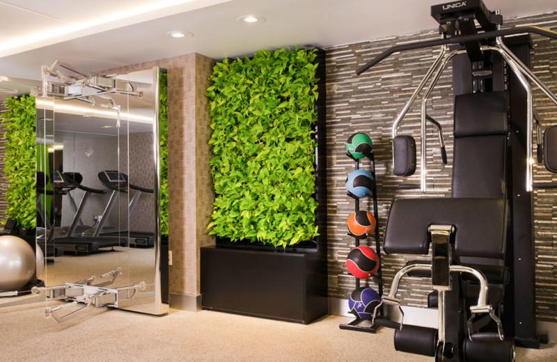 Fitness room at Sofitel Washington D.C. Lafayette Square.
