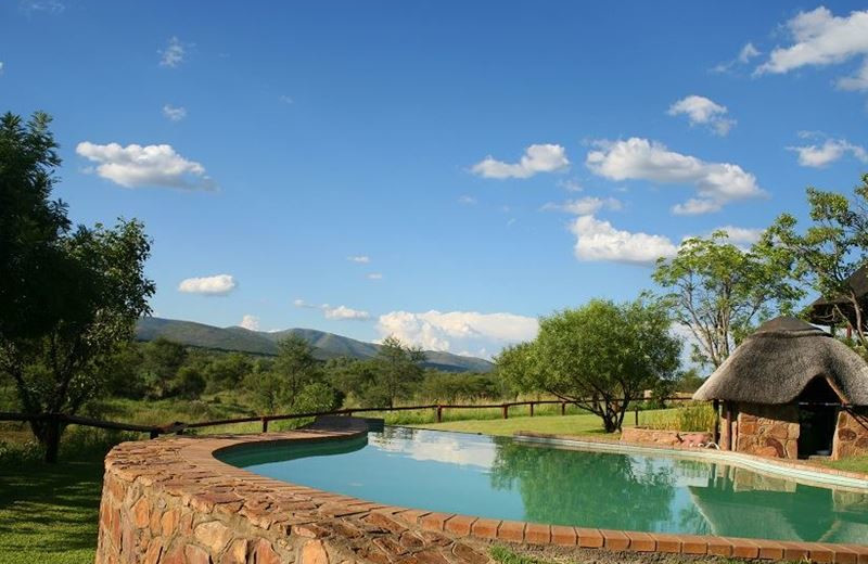 Outdoor pool at Tilodi Wilderness.