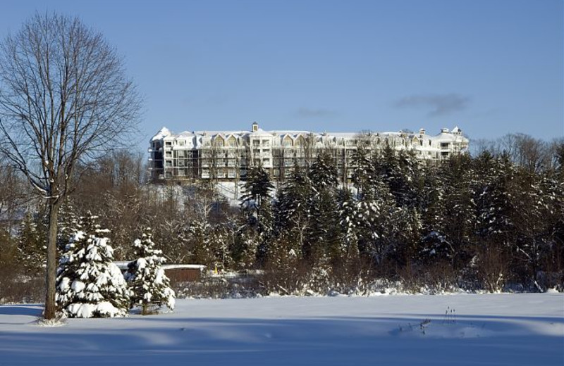 Exterior view of JW Marriott The Rosseau Muskoka Resort & Spa.