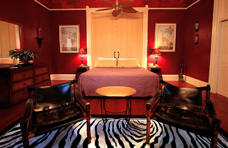 Guest room at Marrero's Guest Mansion.