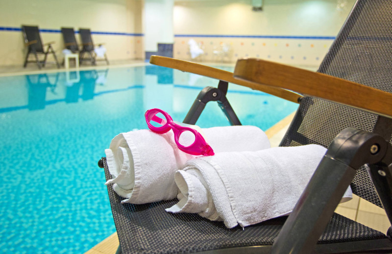 Indoor pool at Roxburghe Hotel.
