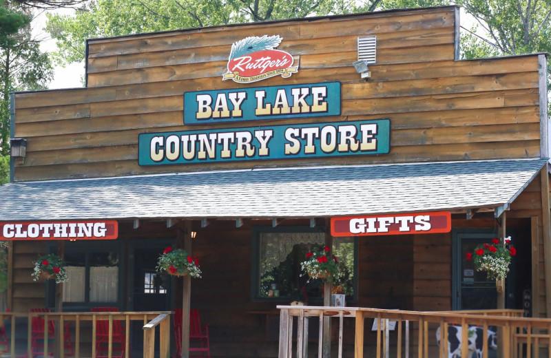 General store at Ruttger's Bay Lake Lodge.