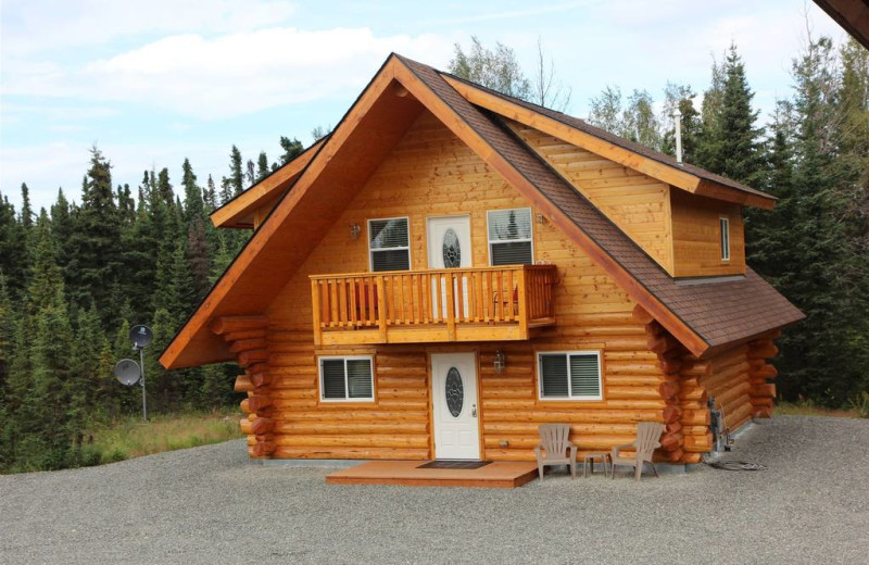 Cabin exterior at Salmon Catcher Lodge.