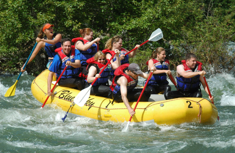 River rafting at Mountain Springs Lodge.