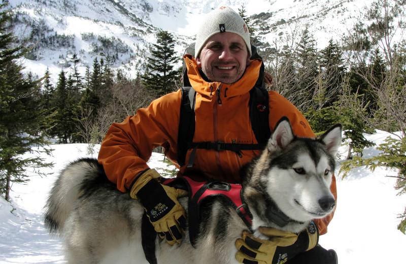 Dog sled at North Conway Lodging.