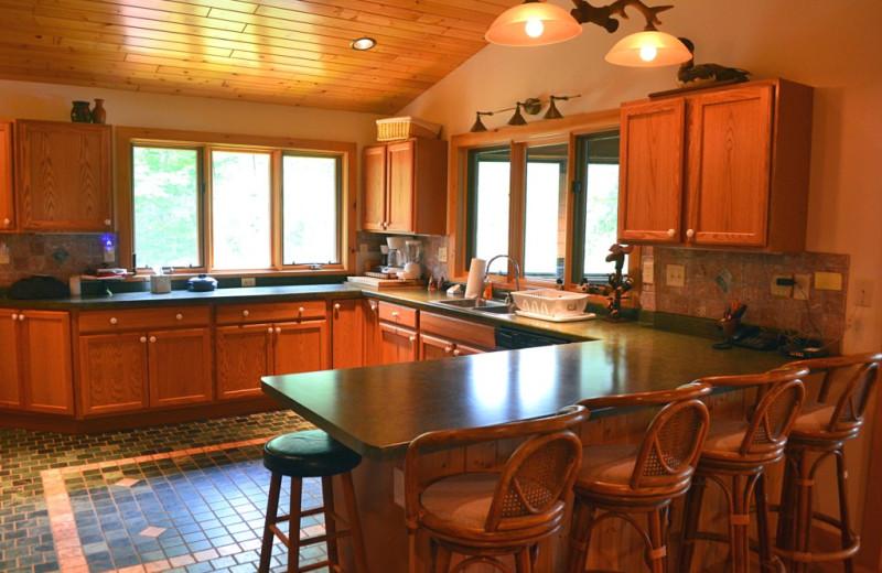 Rental kitchen at Northwoods Property Management.