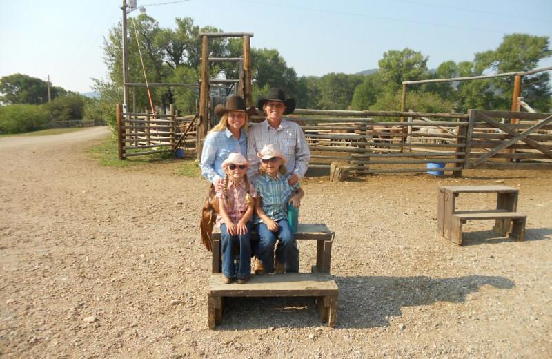 Family at Vee-Bar Guest Ranch.