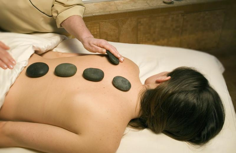 Hot stone massage at Chateau on the Lake.