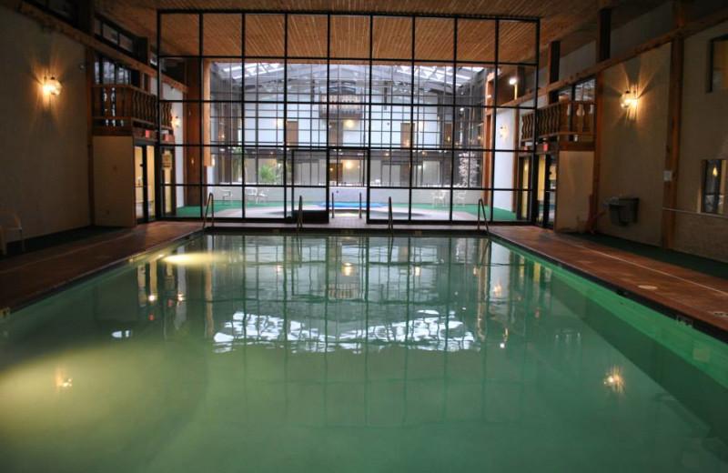Indoor pool at Whitecap Mountains Resort.