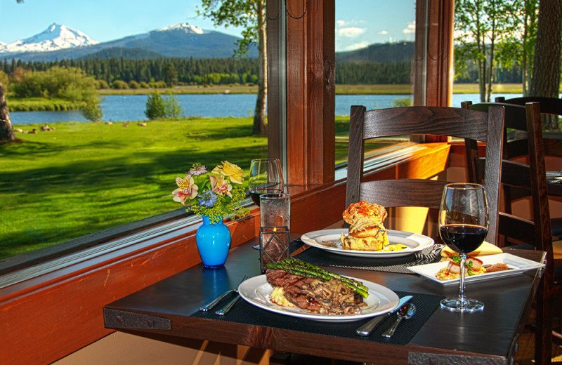 Dining at Black Butte Ranch.