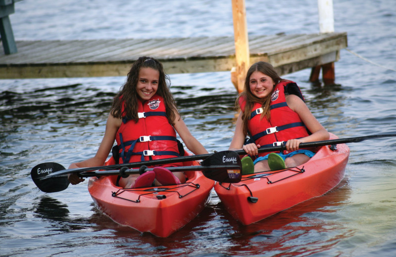 Kayaking at Southview Cottages Resort.