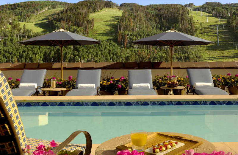 Outdoor pool at Arrabelle at Vail Square.