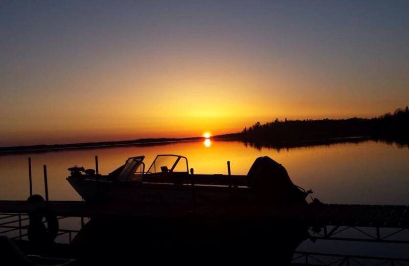 Sunset at Driftwood Resort.
