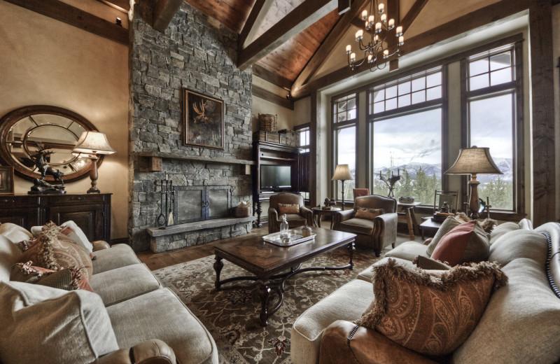 Rental living room at Big Sky Luxury Rentals.
