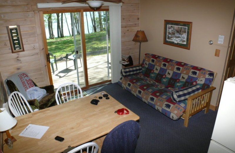 Interior view of Deer Trail Lodge.