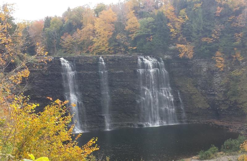 Waterfall at Tug Hill Resort.