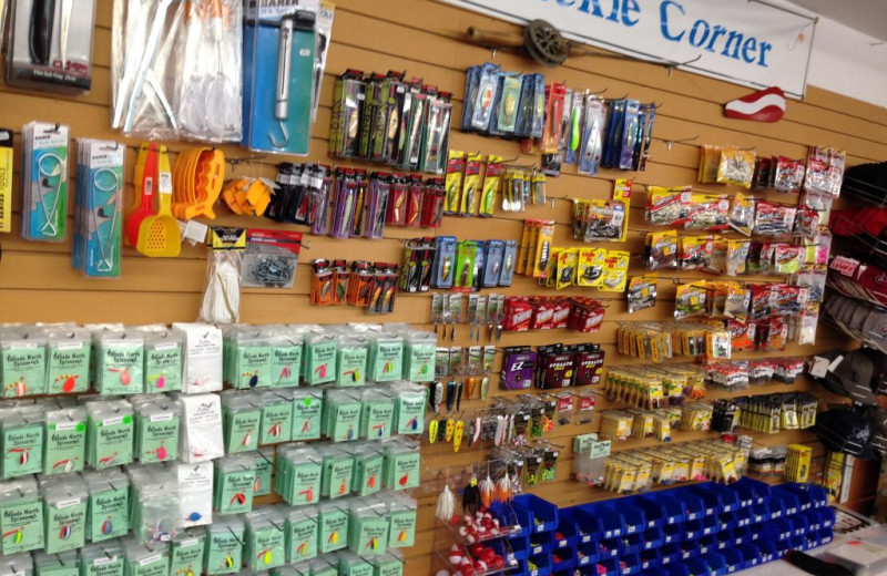 Bait store at Rainbow Point Lodge.