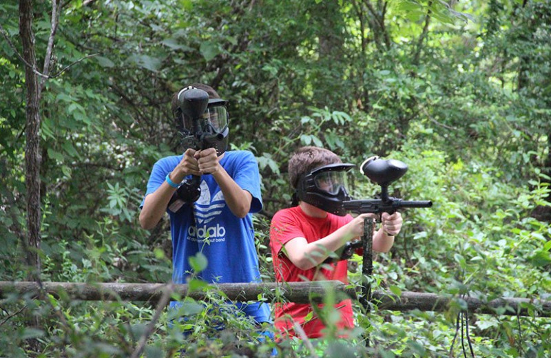 Paint ball at YMCA Trout Lodge & Camp Lakewood.