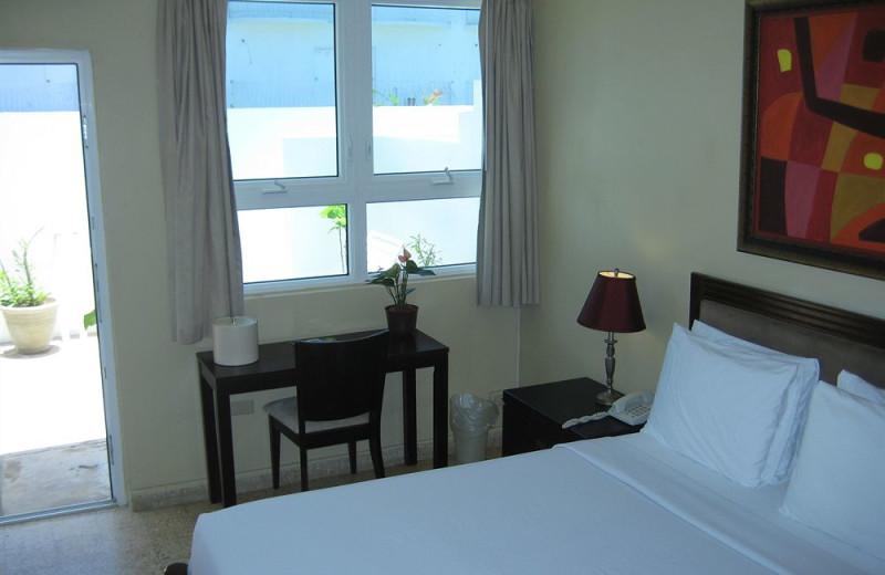 Guest room at Hotel La Playa.