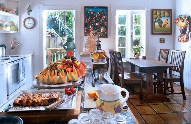 Breakfast at Key West Bed & Breakfast.