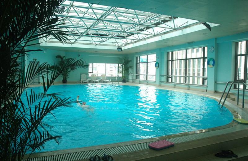 Indoor pool at Jianguo Hotel Shanghai.
