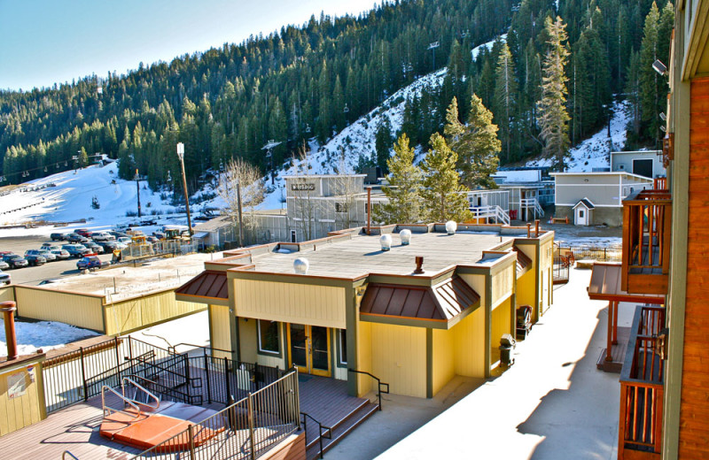 Resort Grounds in the Winter at the Red Wolf Lodge at Squaw Valley