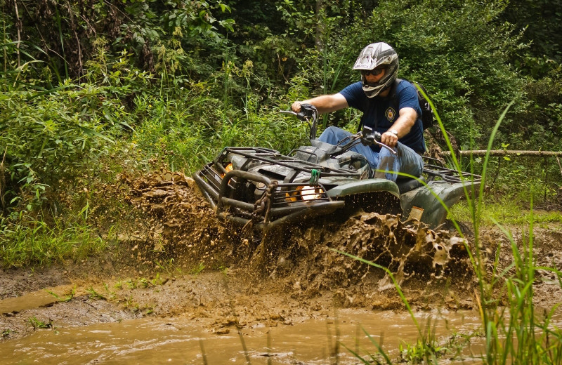 ATV at Country Road Cabins.