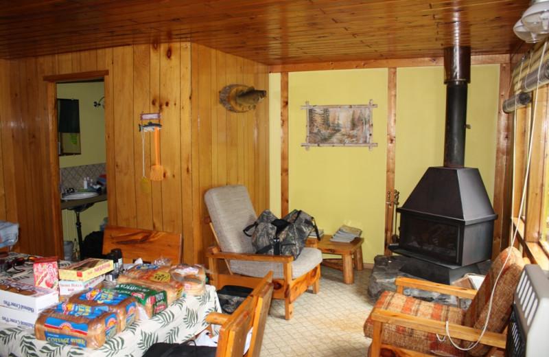 Cabin Interior at Woman River Camp