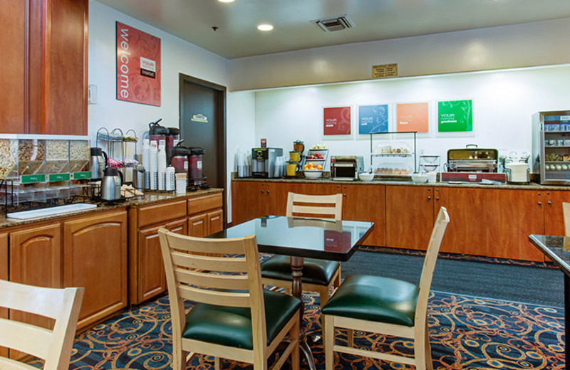 Continental Breakfast Dining Area at Comfort Inn & Suites San Francisco Airport North