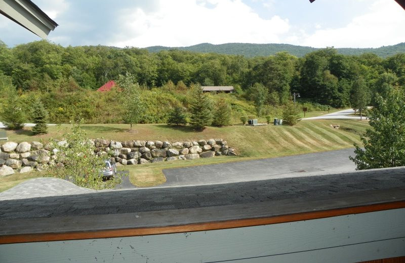 Rental balcony view at All Mountain Rentals.