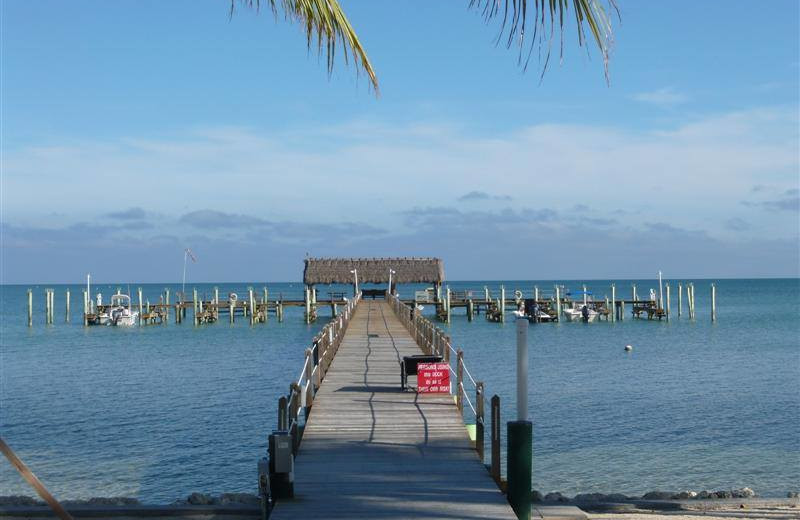 Rental fishing dock at Keys Holiday Rentals, Inc.