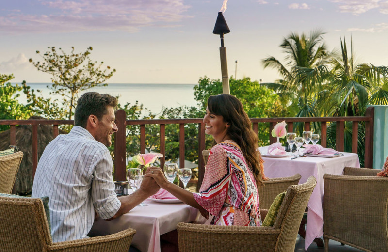Dining at Couples Swept Away Negril.