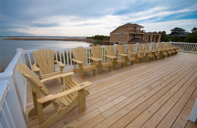 Rental deck at Sandbridge Realty.