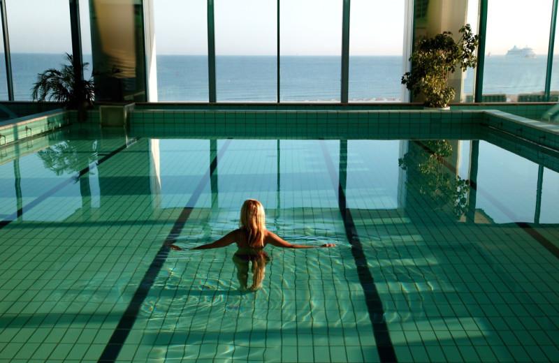 Indoor pool at Hotel Neptun.