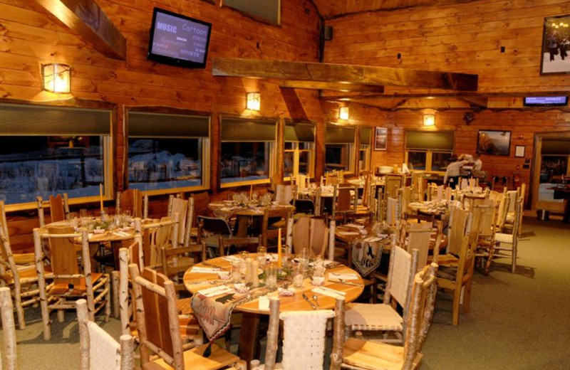 Dining area at Hohmeyer's Lake Clear Lodge.