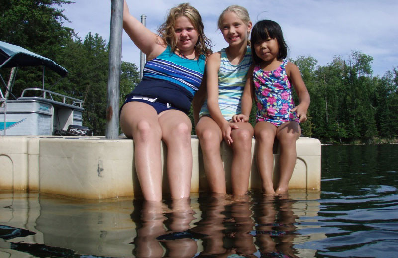 Swimming at Loon Point Resort.
