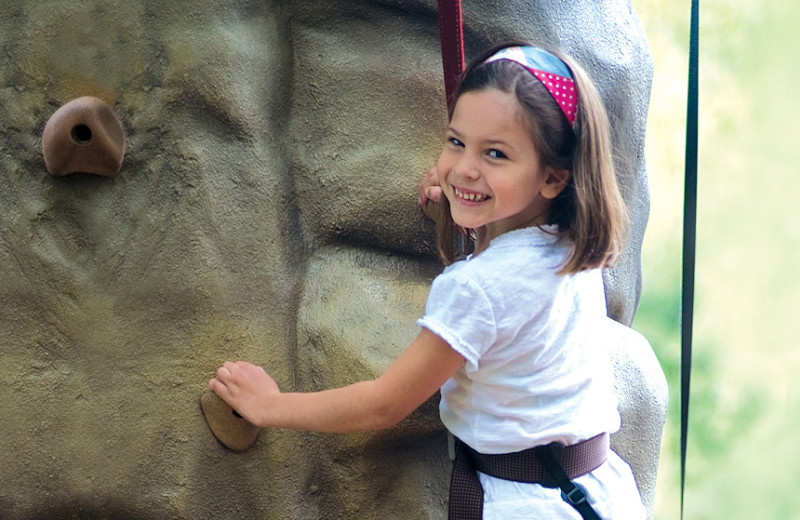 Rock climbing at Rocking Horse Ranch Resort.