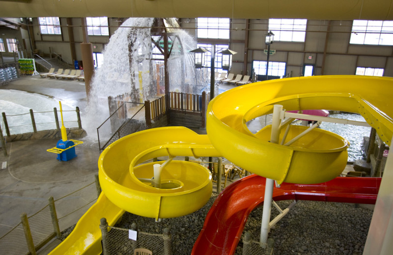 Indoor water park at Hope Lake Lodge & Indoor Waterpark.