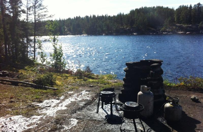 Lake view at Aikens Lake Wilderness Lodge.