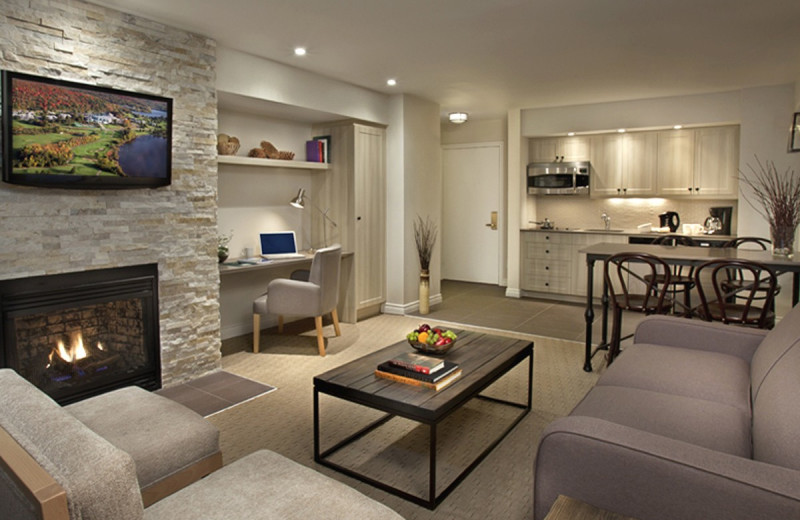 Guest living room at Deerhurst Resort.