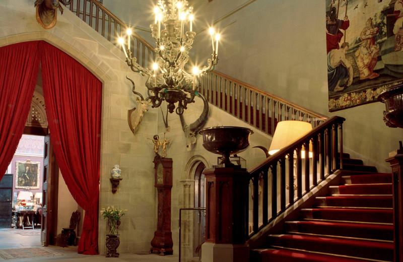 Castle foyer at Luxury Castle Hire.