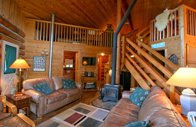 Cabin living room at Mt. Baker Lodging.