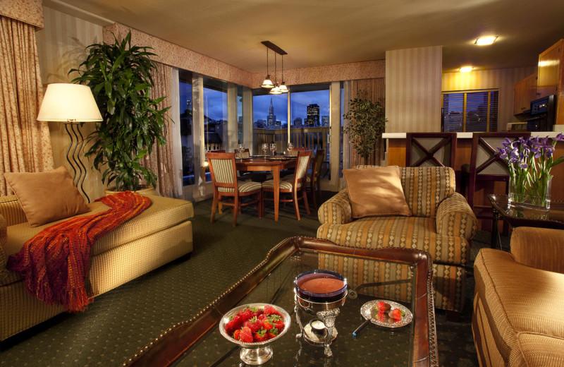 Guest suite at The Wharf Inn.