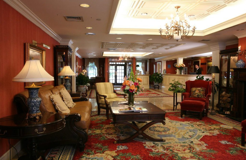 Lobby at Saybrook Point Inn & Spa.