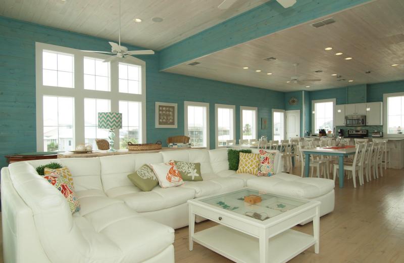 Rental living room at Port A Escapes.