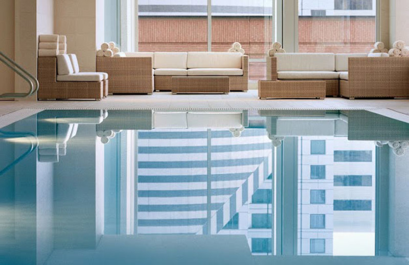 Indoor pool at St. Regis Hotel, San Francisco.
