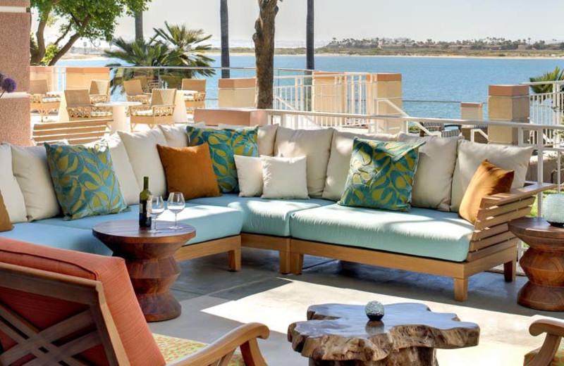 Outdoor lounge at Loews Coronado Bay Resort.